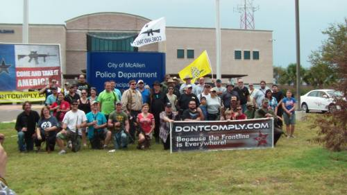 Second Amendment Supporters at the Come And Take It McAllen Rally on Saturday August 10, 2013.