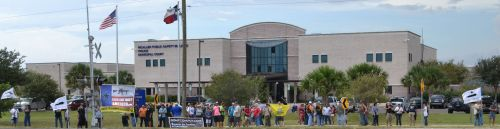 Open Carry Texas Members and Supporters Rally at the McAllen Police Department