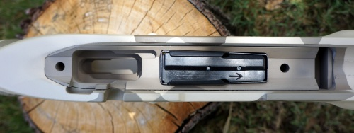 Manners DBM Mini-Chassis in T4-A stock. Accuracy International AW Magazine Inserted.