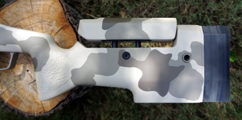 Manners Adjustable Cheek Piece Utilizing KMW Loggerhead Hardware in the T4-A.